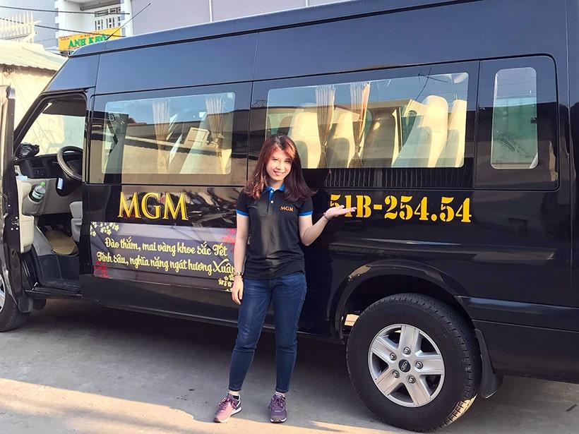 công ty thuê xe 16 chỗ MGM